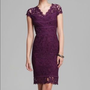 Adrianna Papell Purple Lace Cocktail Dress